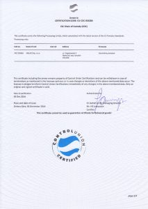 certyfikat Melaco